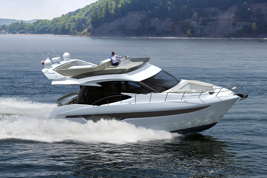 Galeon-460-fly-in-water